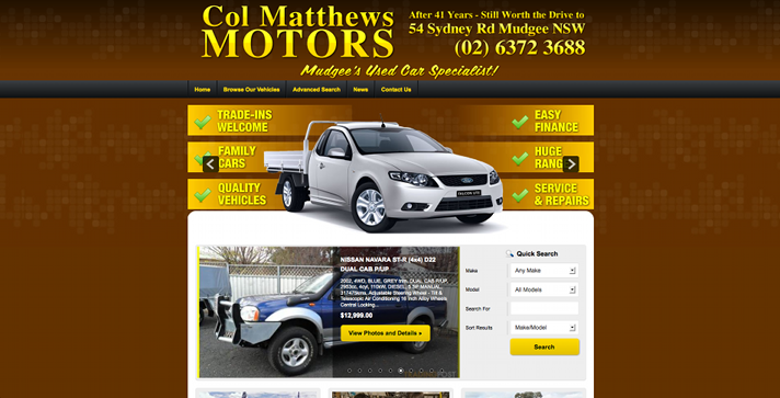 New Website Launched for Col Matthews Motors!