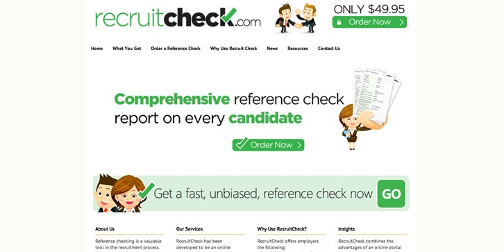RecruitCheck.com Launched