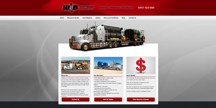 New Website Launched for West Bound Enterprises!
