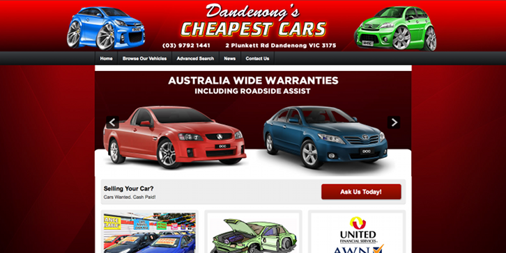 New Website Launched for Dandenong's Cheapest Cars!
