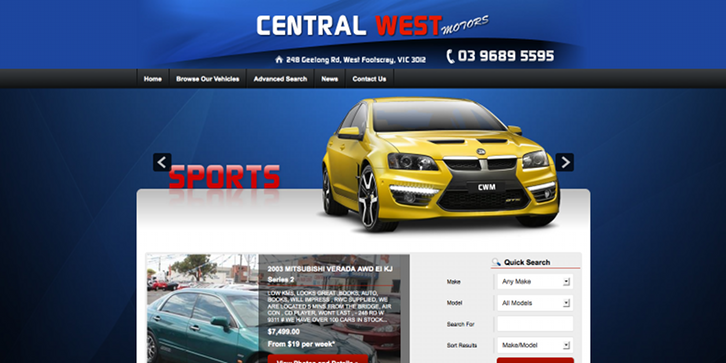 New Website Launched for Central West Motors!