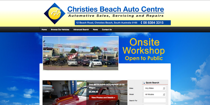 New Website Launched for Christies Beach Auto Centre!