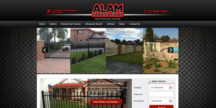 New Website Launched for Alam's Fencing & Gates!