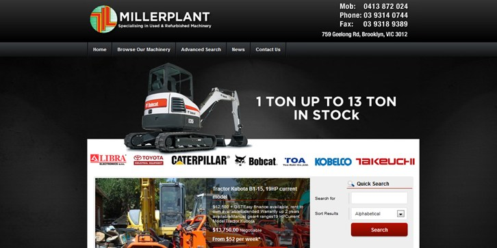 New Website Launched for Millerplant and Equipment!