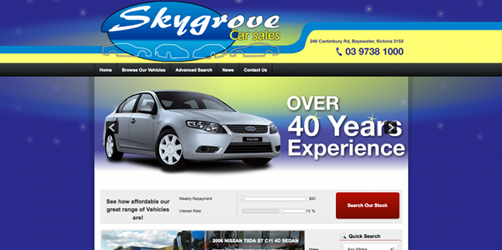 New Website Launched for Skygrove Car Sales!