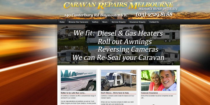 New Website Launched for Caravan Repairs Melbourne!