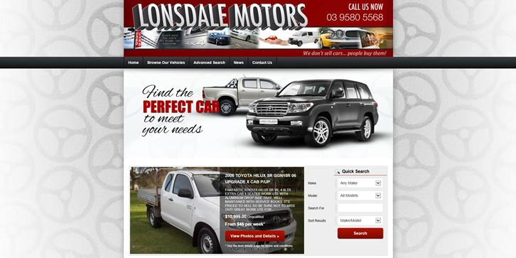 New Website Launched for Lonsdale Motors!