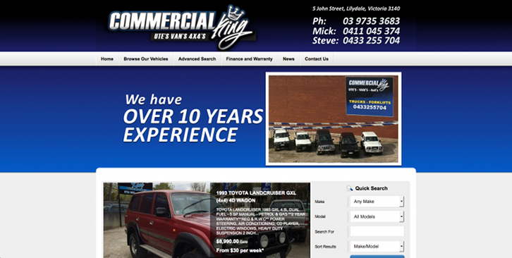 New Website Launched for Commercial King!