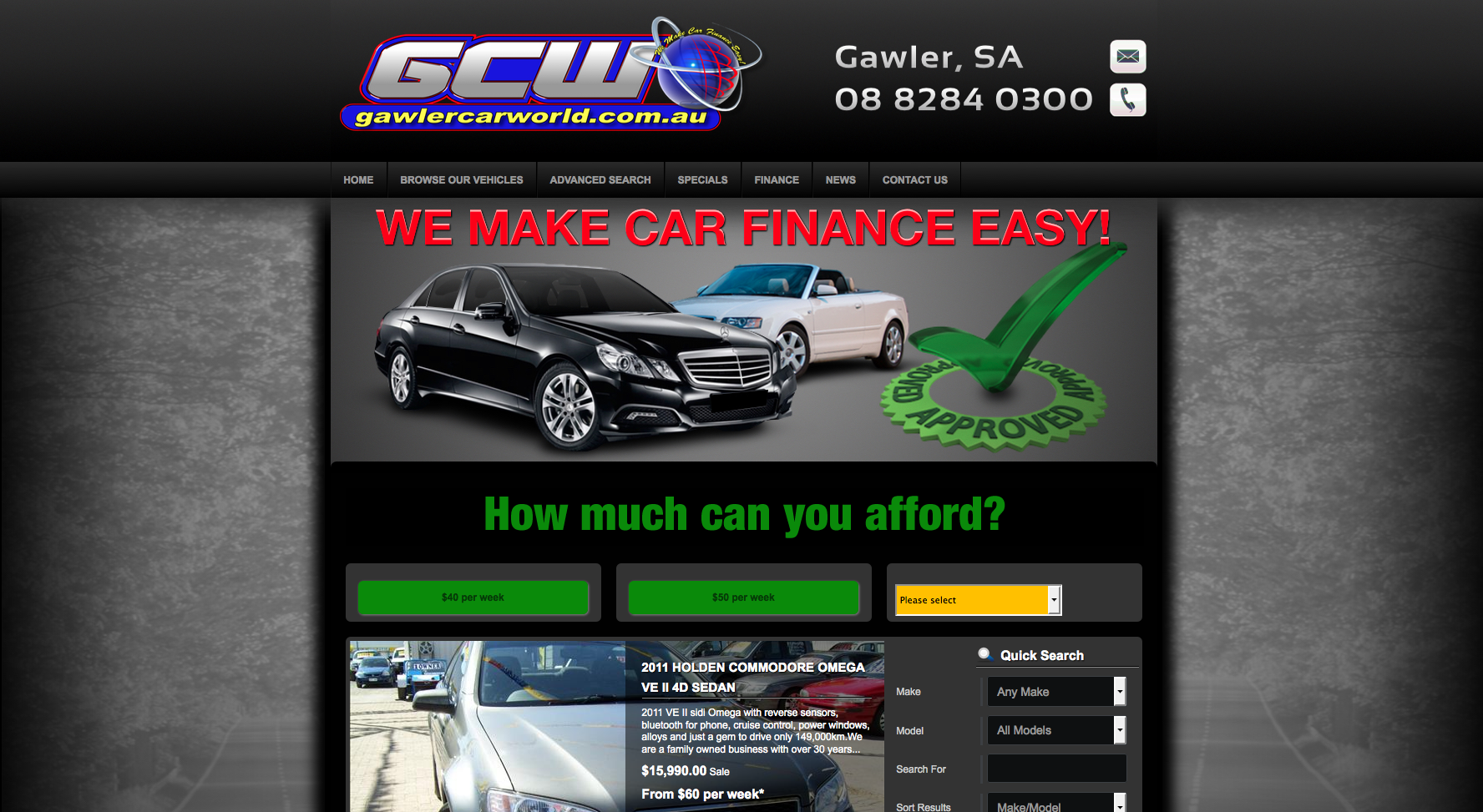 New Website Launched for Gawler Car World!