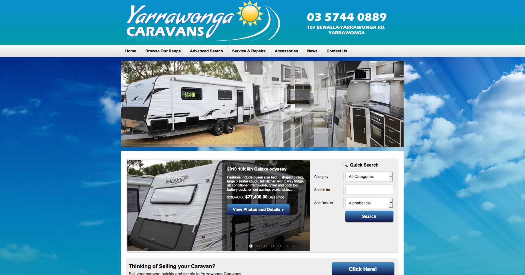 New Website Launched for Yarrawonga Caravans!