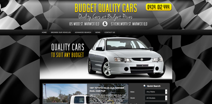 New Website Launched for Budget Quality Cars!