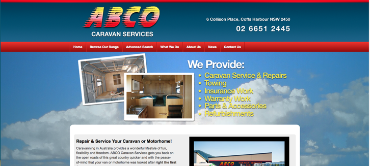 New Website Launched for ABCO Caravan Services!