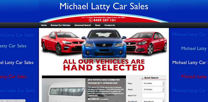 New Website Launched for Michael Latty Car Sales!