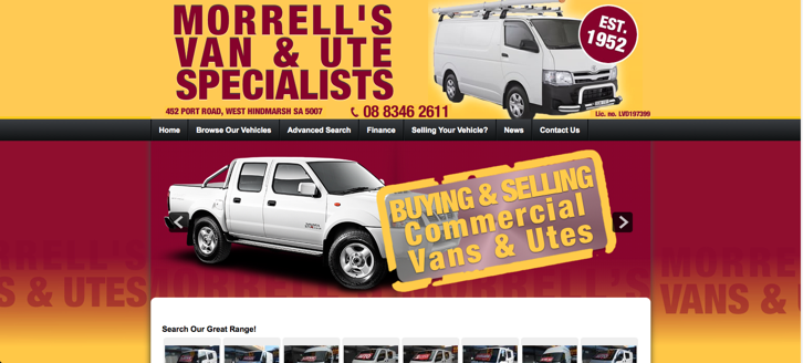 New Website Launched for Morrell's Vans!