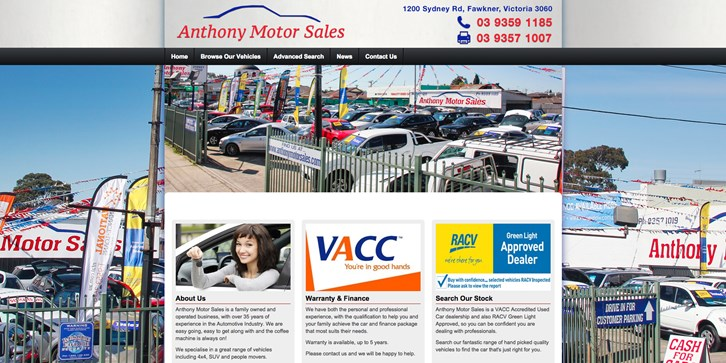New Website Launched for Anthony Motor Sales!