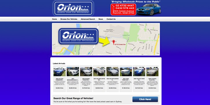 New Website Launched for Orion Autos!