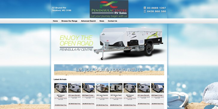 New Website Launched for Peninsula RV Centre!