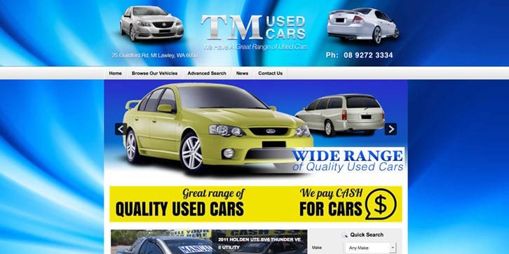 New Website Launched for TM Used Cars!