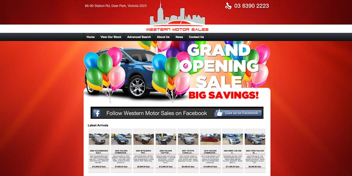 New Website Launched for Western Motor Sales!