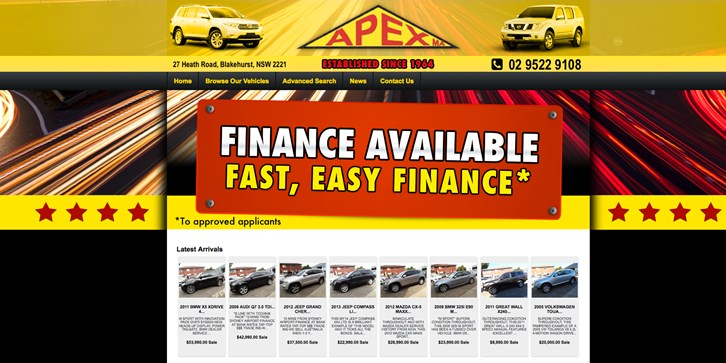 New Website Launched for Apex Motors!