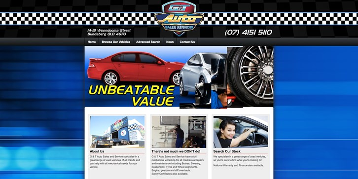 New Website Launched for GT Auto Sales!
