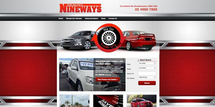 New Website Launched for Gain High Pty Ltd T/A Nineways Wholesale Cars!