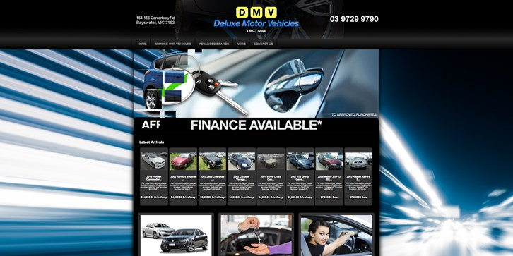 New Website Launched for Deluxe Motor Vehicles!