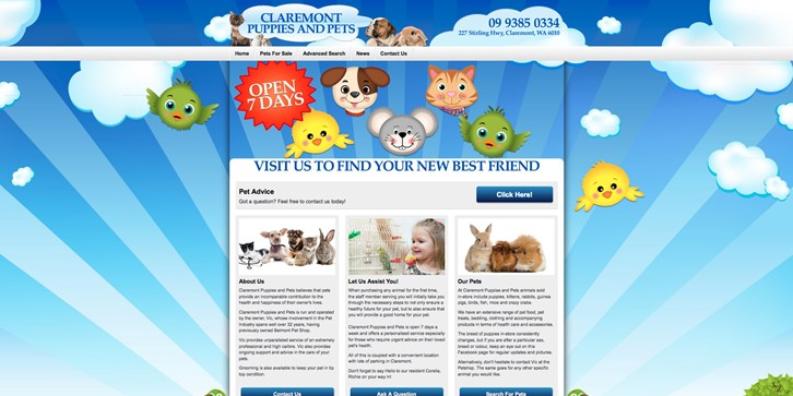 New Website Launched for Claremont Puppies and Pets!