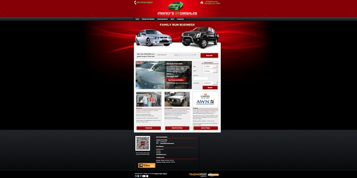 New Website Launched for Franky's A1 Carsales!