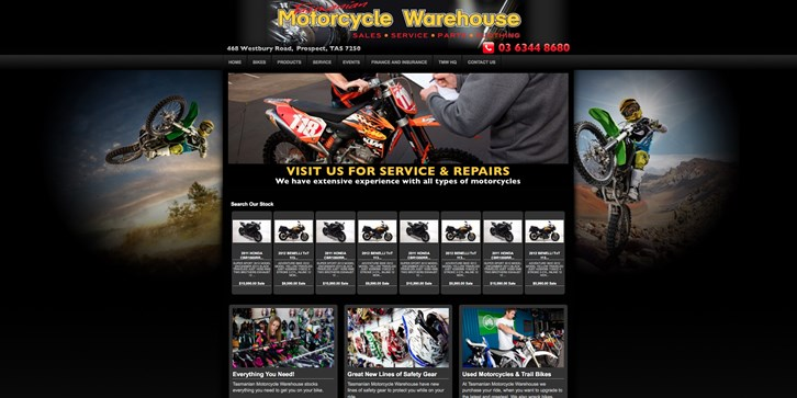 New Website Launched for Tasmanian Motorcycle Warehouse!