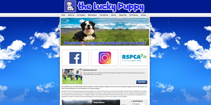 New Website Launched for The Lucky Puppy!