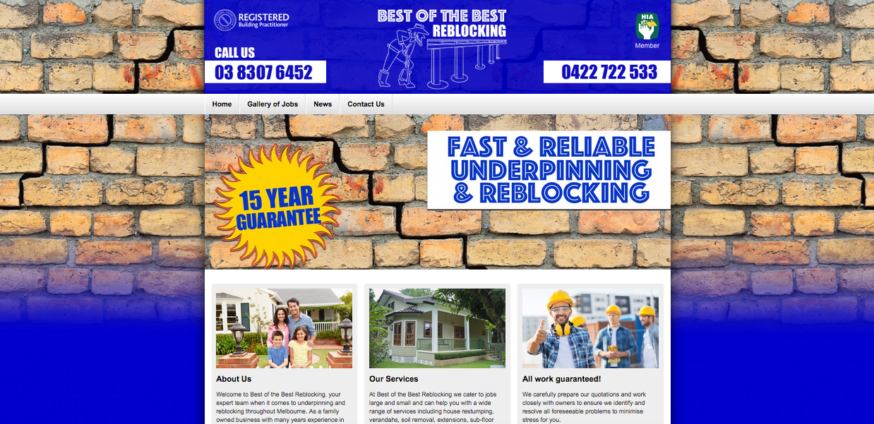 New Website Launched for Best of the Best Reblocking!