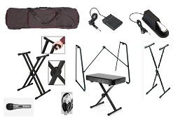 Keyboard stands, stools and cases/bags